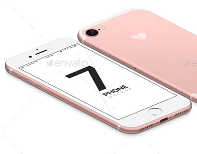 iPhone 7 and 7 Plus vector Mockups