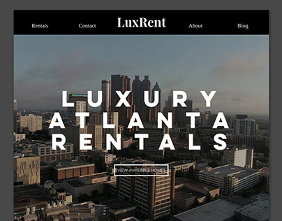 Luxury Home Rentals Website- LuxRent