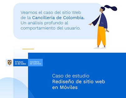 Caso de Estudio UX/UI Cancillería de Colombia