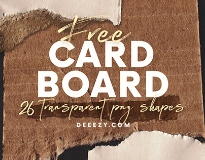 26 FREE Cardboard PNG Shapes