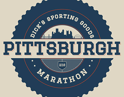 2018 Pittsburgh Marathon T-Shirt Design