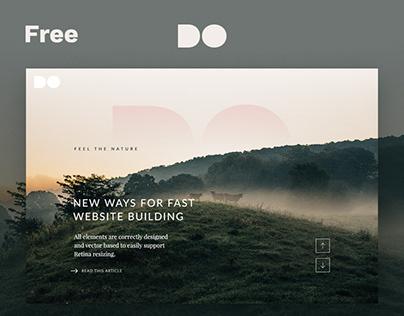 Freebie: The DO website hero templates