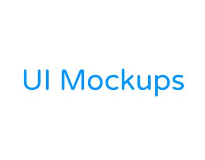 (New) UI Mockups!