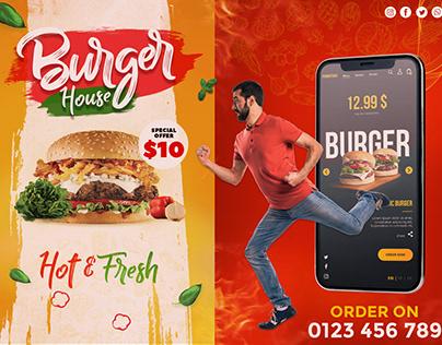 Burger Promotional Banner Design