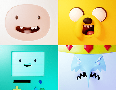 Faces of Adventure Time