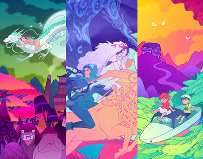 Ghibli Tributes: Ponyo, Spirited Away, Mononoke Hime