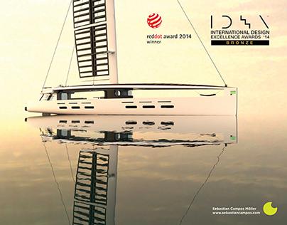 Kira 40 Meter Hybrid Sail Yacht.