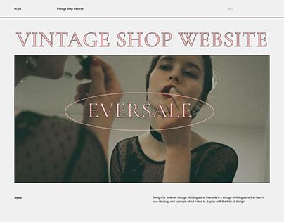 Vintage shop website