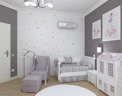Bedroom for little girl