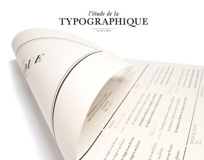 timeline typographie