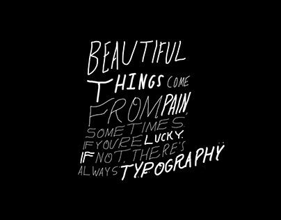 beautiful things: handwritten type_
