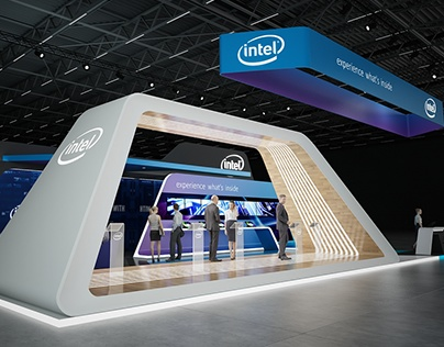 * INTEL * exhibition stand *