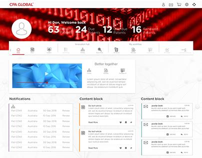 IP Platform Profile and dashboard concept