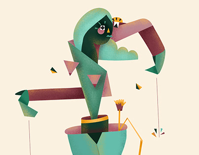 Editorial illustration. Ana Isabel Gil. Hippocampus