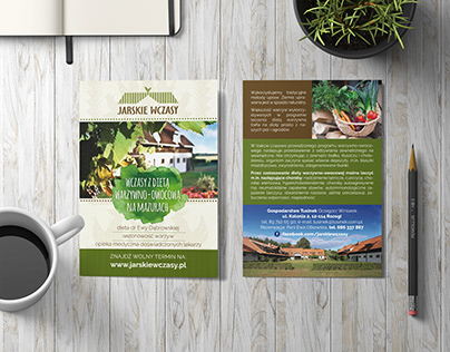 A6 flyer for agritourism farm
