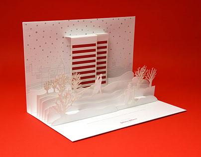 Johnson & Johnson holiday card design