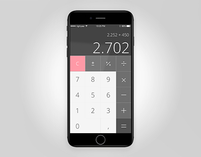 #DailyUI #004 iOS Based Calculator