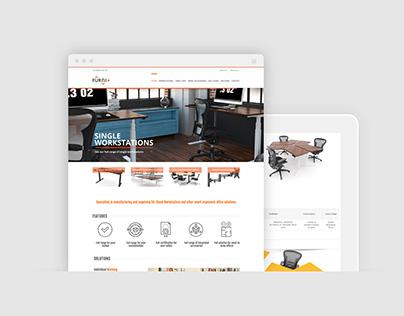 Furniplus Wordpress design and development