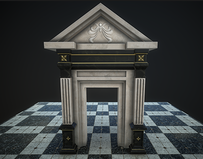 3ds max, old style corridor