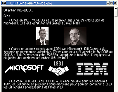 Affiche MS-DOS