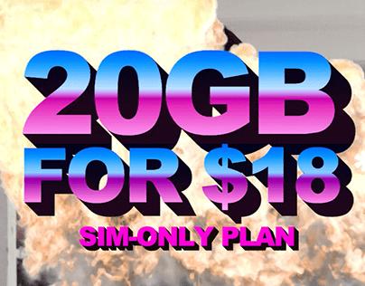 20GB for $18 Base Plan / Circles.Life
