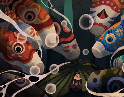Kiko and mysterious adventures - Book illustration