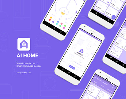 Ai HOME/ Android mobile UI/UX smart home app design