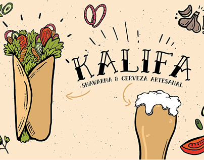 Branding / Kalifa, Shawarma & Craft Beer (2016)