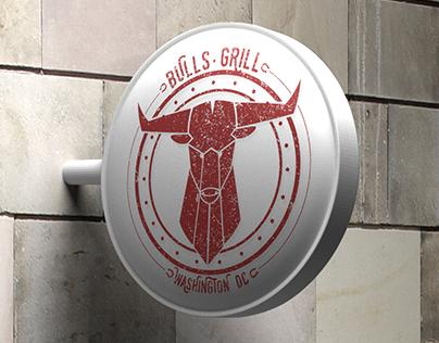 Bulls Grill - Sign mockup