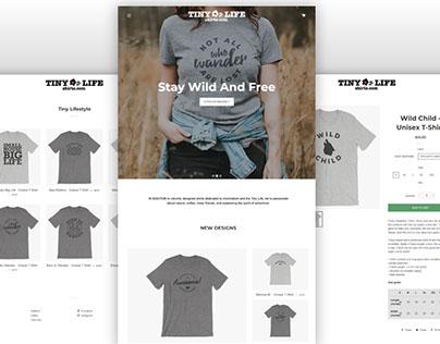Tiny Life Shirts Website