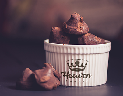 Mockup of Porcelain Container With Chocolate Truffles