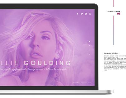 Ellie Goulding - UI Redesign