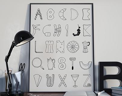 My own alphabet - Breakfast