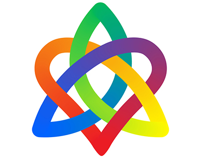 Spectrum Celtic Knot for Sisters