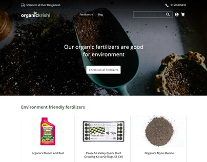 Organic fertilizer selling UI design