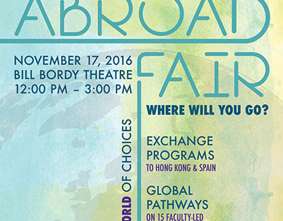 Emerson's Education Abroad Fair Poster