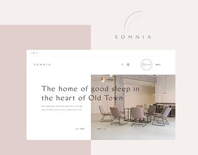 Somnia Hotel Website Design