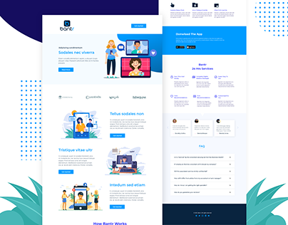 Video chatting app landing page