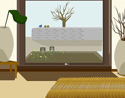 Motion graphic 'Big window'