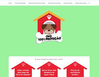Site - ONG 100% Proteção