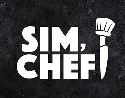 Sim, Chef! Logo Design Tv Serie Identity Logo