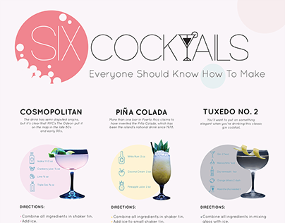 Cocktails Infographic Poster