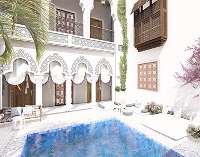 moroccan villa