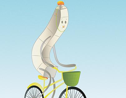 Obelisco en bici