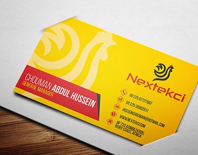 Business Card Design for Nextekci