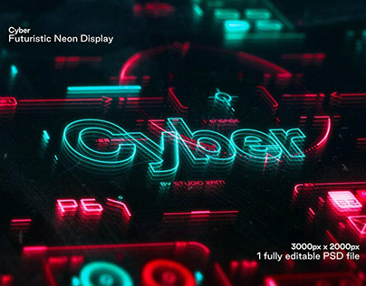 Cyber Futuristic Neon Display Designed by Studio 2am