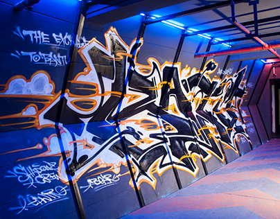 Graffiti SCI-FI tunnel