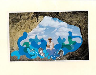 Колаж — поштова листівка з моря
