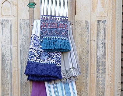 John Robshaw Textiles: Printed Border Throws