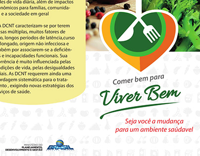 Folder Alimentação Saudável - MPDG